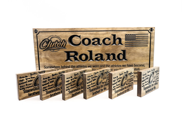 BASEBALL coach team plaque - baseball little league team awards , team plaques