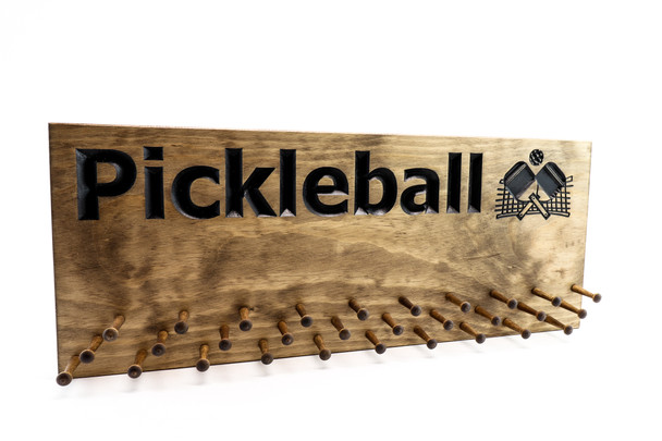Pickleball  Medal display with 10,19 or 30 PEGS (CWD-717)
