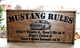 car rules wooden sign