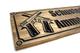 crossed pistols  wooden sign