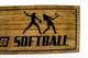 girls softball team plaque