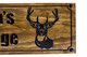deer head wooden farm sign