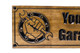 Man cave sign with wrench hand and deer head