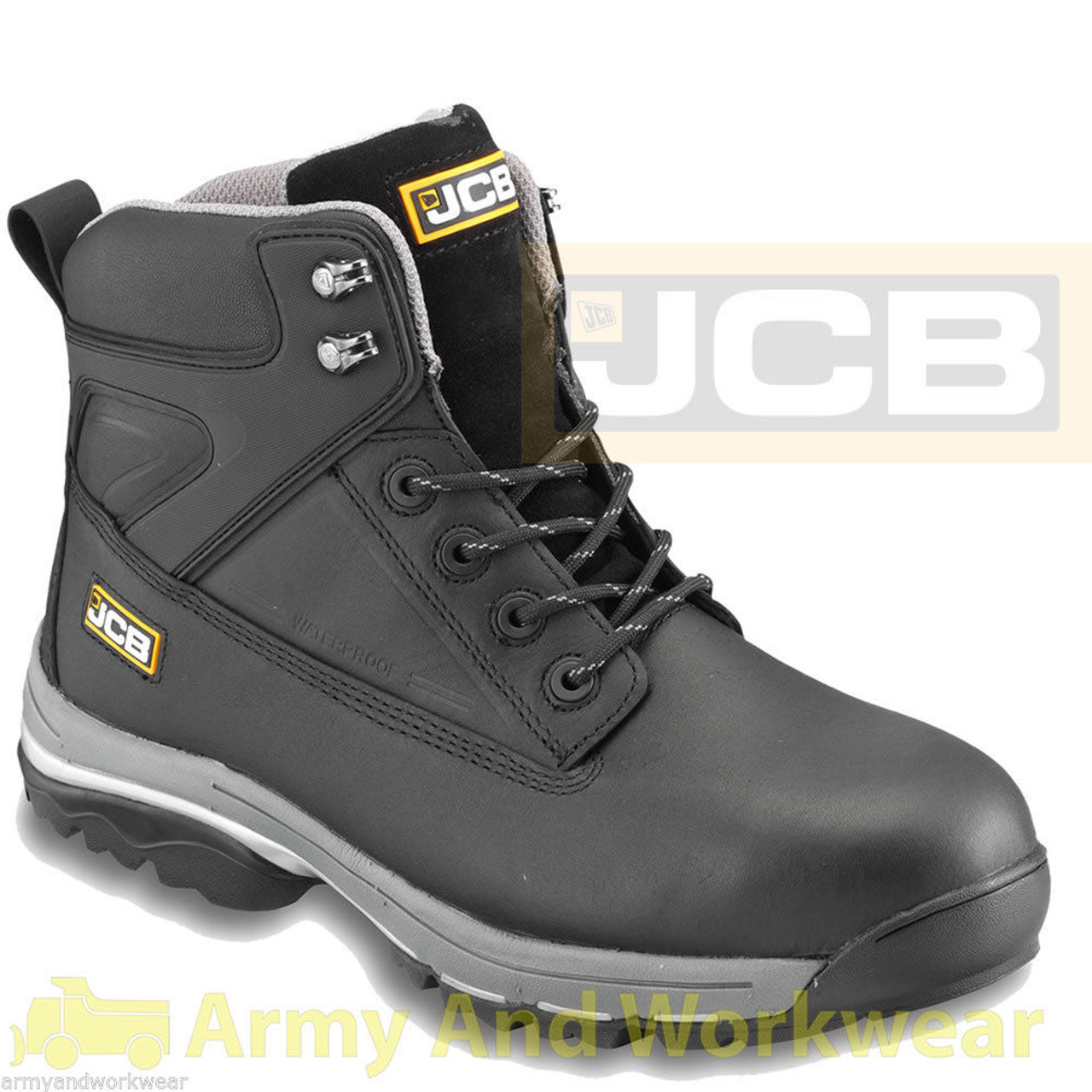 9a42958bbc9 JCB Fast Track Steel Toecap Work Safety Boots in Black