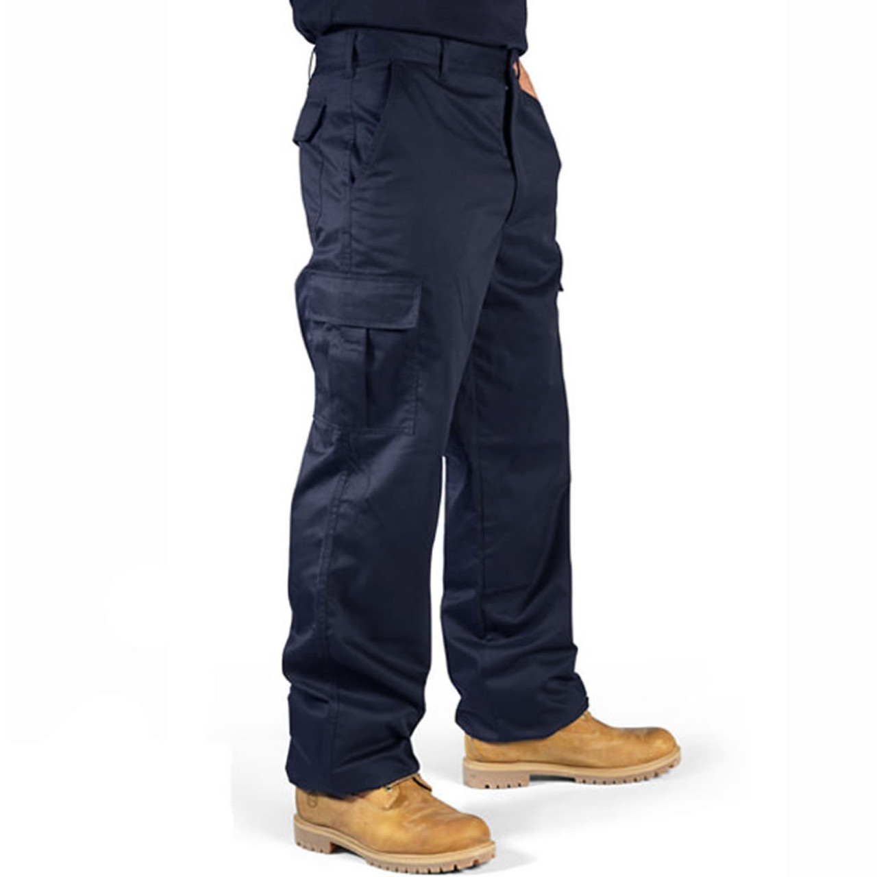 matching in colour super quality hoard as a rare commodity Cargo Pocket Combat Work Trousers Navy Blue