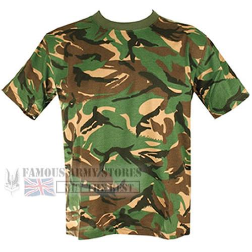 e4d750c89 Boys/Kids Soldier 95 Camo British Army Military Combat T-shirt Top DPM Cadet