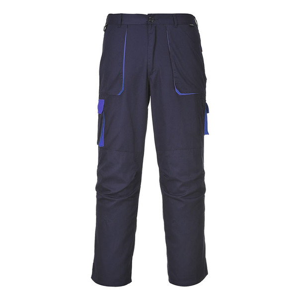 PortWest Mens Trouser Cargo Combat Safety Contrast Slate Work Pant