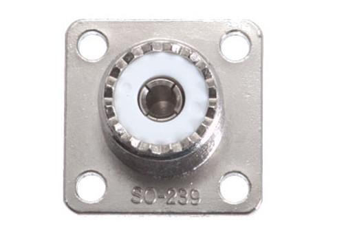 UHF Panel Jack, Solder Type, 4 Hole