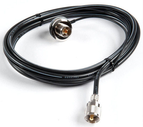 Comet CK-3M - Cable Assembly, SO-239 Base, 9.75 ft. Cable Length, Includes 18 in. RG-174 Pass Through Cable, PL-259