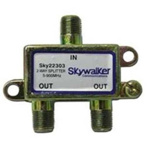 Skywalker SKY22303 - 2 Way, F Type Coax Signal Splitter for TV, 5-900 MHz