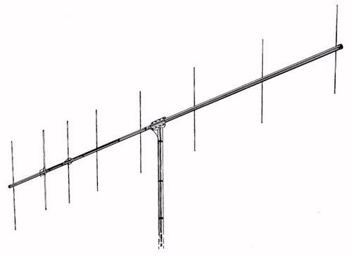 Hy-Gain VB-28FM - Antenna, Beam, FM, Beta Match, 2 Meters, 8 Elements, 500 W, 14 dBi, 148.75 in. Boom Length