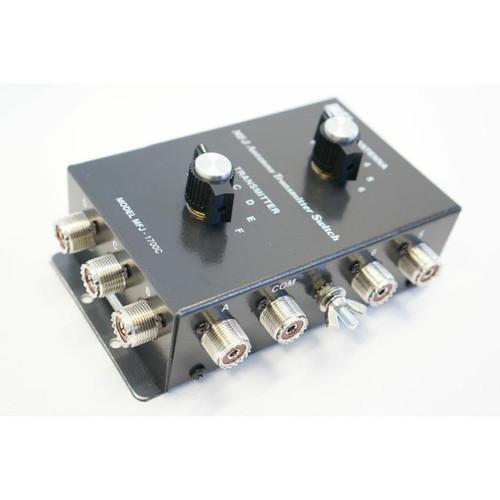 MFJ-1700C - Antenna Switch, Manual, 6-port, 1.8 To 30 MHz, UHF Female, SO-239
