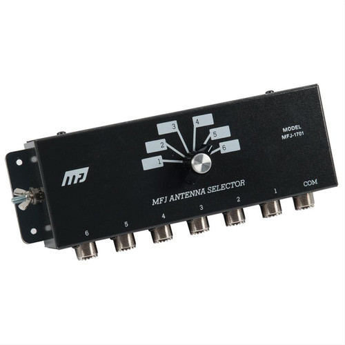 MFJ-1701 - Antenna Switch, Manual, 6-port, Center Ground Position, UHF Female, SO-239