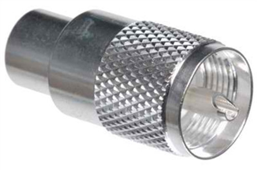 Coaxial Connector, PL-259, UHF Male, Silver Teflon, Solder Type, Pk of 10