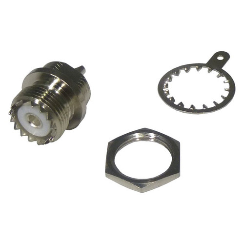 Coaxial Connector, Chassis D-Mount, UHF Female, SO-239