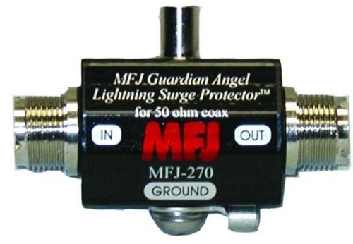 MFJ 270 Lightning Surge Protectors, Coaxial, UHF Female,  400 W Power Rating