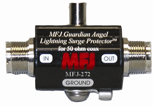 MFJ 272 - Lightning Surge Protectors, Coaxial, UHF Female, 1500 W Power Rating