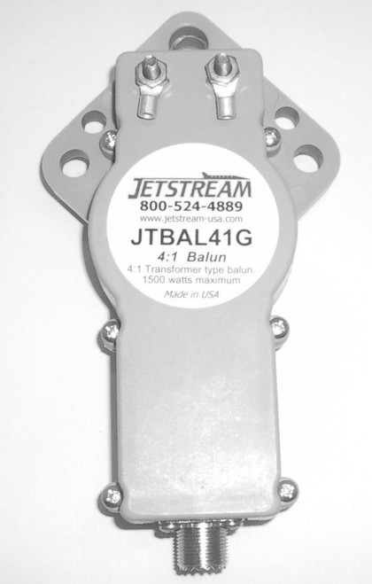 Jetstream JTBAL41G - 4:1 Transformer Type Balun 3.5-30 MHz, Gray