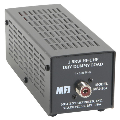 MFJ-264 -Test Equipment, Dummy Load, Air Cooled, 1,500 Watts Intermittent Power Rating, 0-650 MHz Range