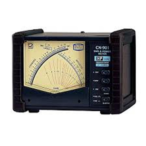 Daiwa CN-901HP SWR/Wattmeter, 1.8-200 MHz, 2,000 W Max., Cross Needle, UHF Female, SO-239, 13.8 Vdc