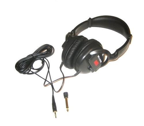 MFJ-392B Headphones, Radio Communication, 450 mW, 100-24,000 Hz, 16 ohms, 102 dB/mW, Stereo 1/8 in. Male Plug
