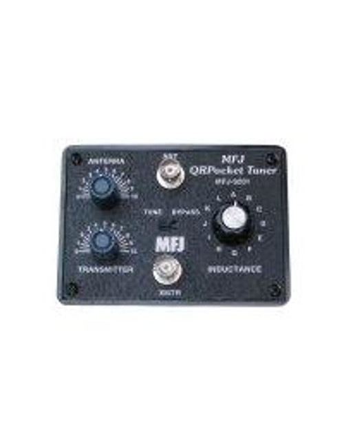 MFJ-9201 Antenna Tuner, QR Pocket, 80-10 Meters, 25 W, 12 Position Inductor Switch, Tune/Bypass Switch