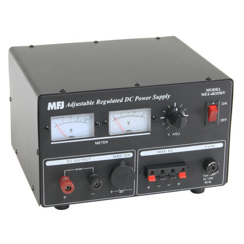 MFJ-4035MV - Power Supply, Linear, 35 A At 13.8 Vdc Peak Output, Internal Fan, 110 Vac Input