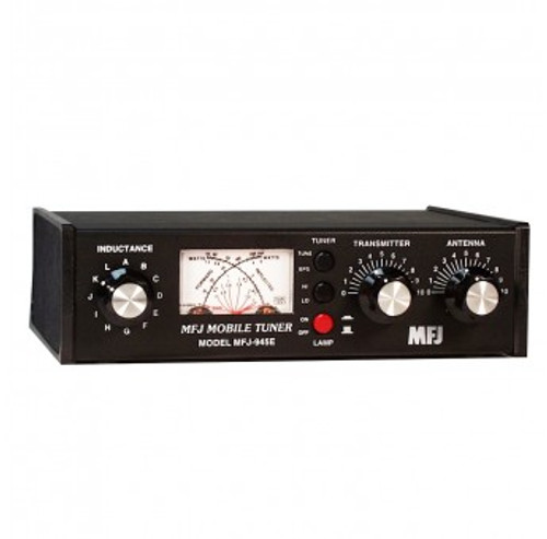 MFJ-945e - Antenna Tuner, Mobile, Manual, 300 watts, 160-6 meters, Switched, 2 Capacitors, Tuner Bypass Switch