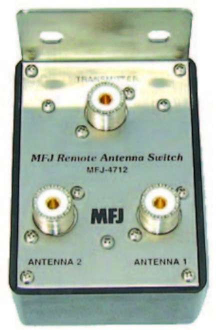 MFJ-4712 Remote Antenna Switch, 2-Position, 1.8-60 MHz, 1500 W, 50 Ohms