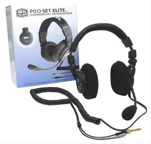 Heil Sound Pro Set Elite IC Headset,  Over Ear Stereo Headphone, Electret Mic Element, Incl. AD-1-IC for ICOM