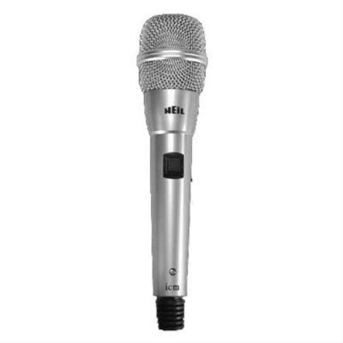 Heil Sound ICM Microphone, Standard Type, Silver Body, Silver Screen, Single Element, Electret, w/ cable and 8-pin Round for ICOM Xcvr Only