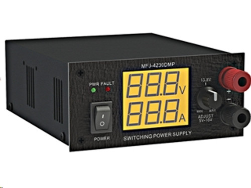MFJ-4230DMP Digital Switching Power Supply, 30 A, At 13.8 Vdc Peak Output, Front-Panel Adjustable, Powerpoles from 4-16 V, Internal Fan