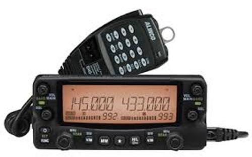 Alinco DR-735 Transceiver, Mobile, FM, 144/440 MHz, 8-Color LED Display, Hand Mic