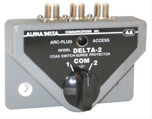 Alpha Delta 2B Coax Switch, 2-port, Rated Through 500 MHz, UHF Female, SO-239