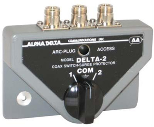 Alpha Delta 2BN Coax Switch, 2-port, Rated Through 1.3 GHz, N Type, Female