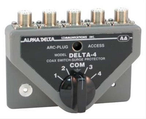 Alpha Delta 4B Coax Switch, 4-port, Rated Through 500 MHz, UHF Female