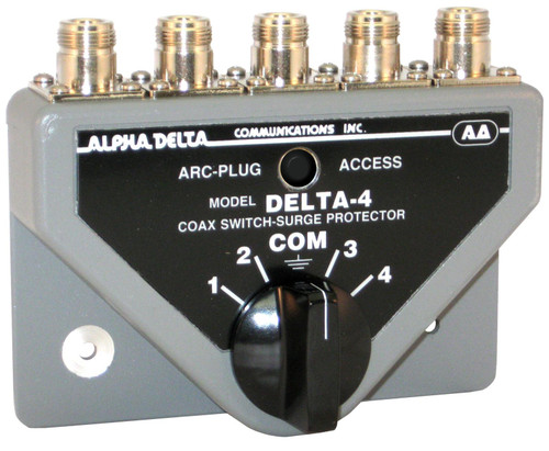 Alpha Delta 4B/N Coax Switch, 4-port, Rated Through 1.3 GHz, N Type, Female