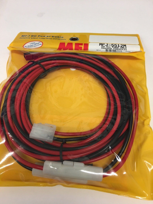 MFJ-5512M DC Power Cable for Mobile Radios w T-Style & PowerPole Connectors