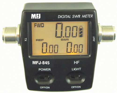 MFJ-845, WATTMETER, DIGITAL, 1.8-60 MHz, 200 WATT