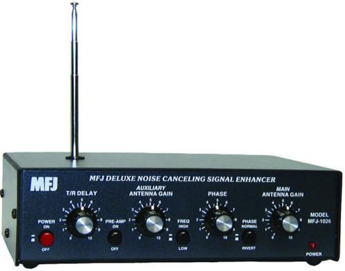 MFJ-1026 - Noise Canceller, Adjustable Phasing, Active Noise Whip, 1.5-30 MHz, RF Sense T/R 100W, 12 Vdc