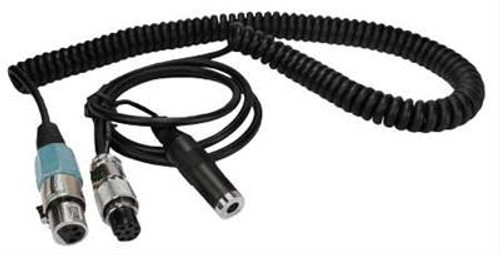 Heil Sound CH-1-I8 ICOM Microphone Adapter Cable, Coiled, XLR4 to ICOM, 8-pin Round, w/Mono 1/4 in. Female Jack for PTT
