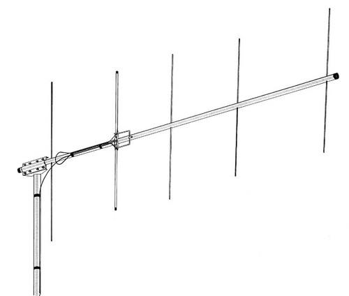 Hy-Gain VB-25FM 5 Element 2M Yagi Type Beam Base Antenna