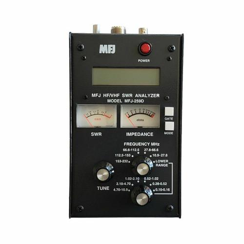 MFJ-259D HF/VHF (100-160KHz, 280-520KHz, 530KHz-230MHz) SWR Antenna Analyzer