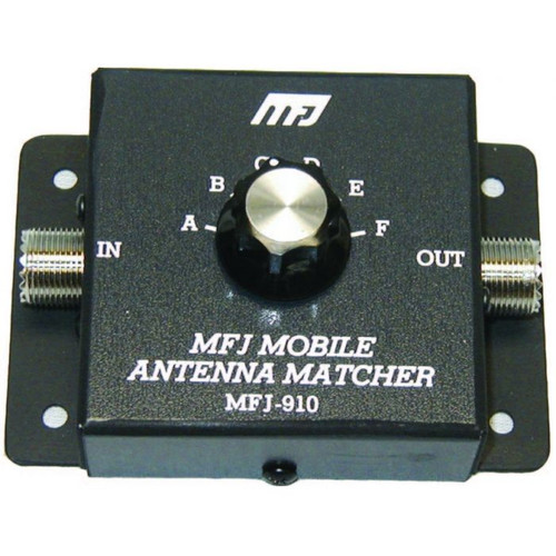 MFJ-910 Mobile HF Antenna Matcher, Capacitive, 200 Watts, 10-80M