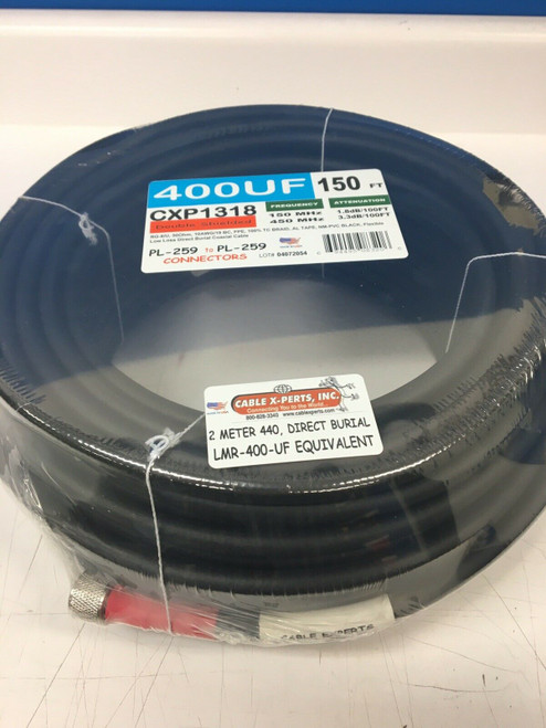 150 ft Low Loss LMR-400 Flexible Direct Burial Coax Cable