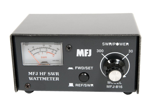 MFJ-816 - Wattmeter, HF, 1.8-30 MHz, 30/300 W, Measures Forward Power