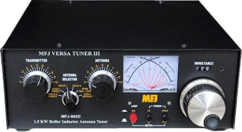 MFJ-962D - Antenna Tuner, Versa Tuner III, Manual, Desktop, 800 watts, 160-10 meters, External