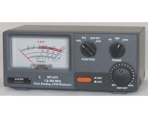 MFJ 872 Grandmaster SWR/Wattmeter, 1.8-200 MHz, 5 - 20 - & 200 W