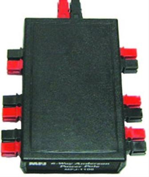MFJ-1106 - PowerPole Distribution Block, Seven Anderson Connectors, One Input, Six Outputs, up to 30 Amps
