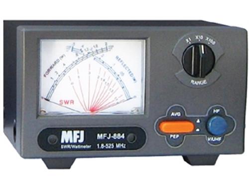 MFJ-884 - 1.8-525 MHz, 200 W Cross Needle SWR/Wattmeter